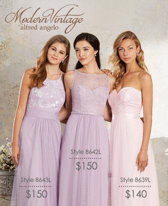 modern vintage bridesmaid dresses ZKVKUKU