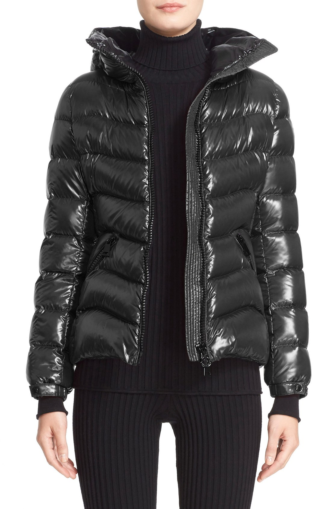moncler anthia water resistant shiny nylon hooded down puffer jacket |  nordstrom DTDKATW