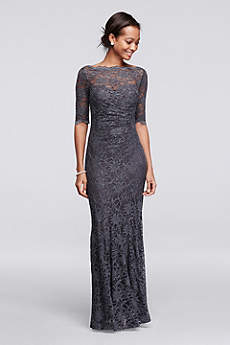 mother of the bride dresses long elbow sleeves mother and special guest dress - nightway FLYNUMK