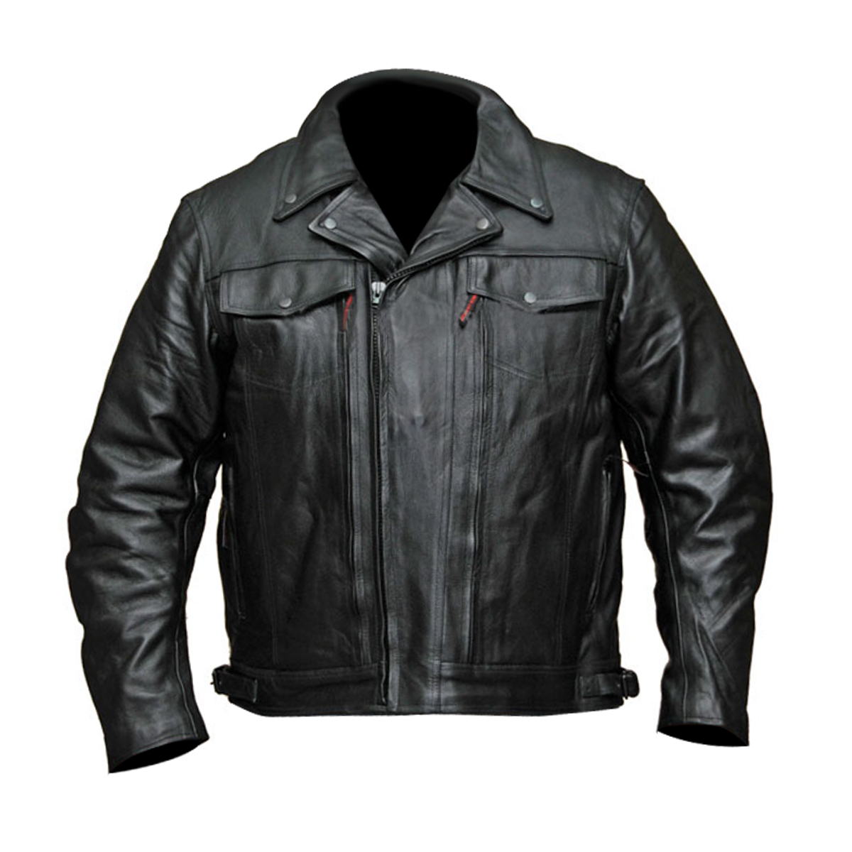 motorcycle jackets menu0027s double pistol pete-chief premium leather motorcycle jacket GAAUNAM