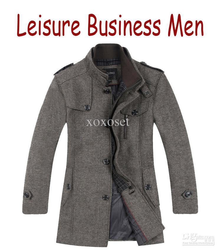 name:business casual mens coats the new wool coats single-breasted mens  coat no belt coats MTUPPNZ
