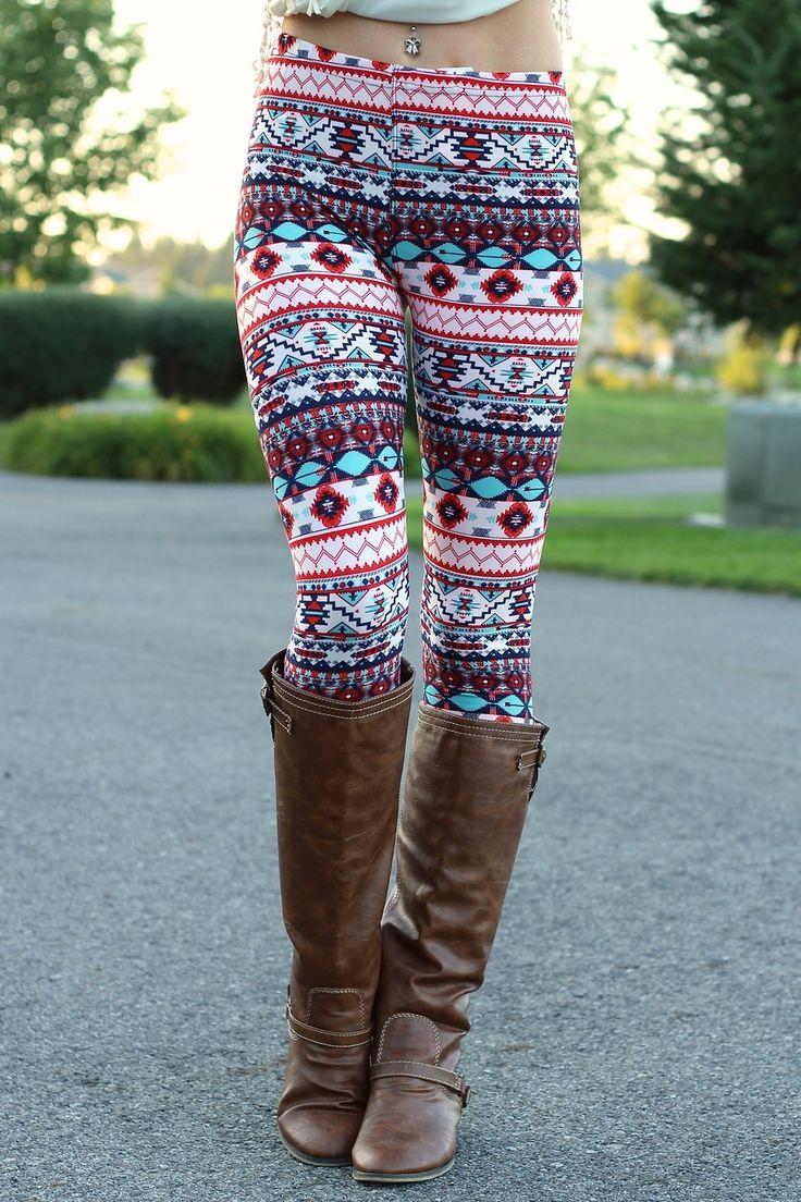 Best way to wear Aztec leggings for women