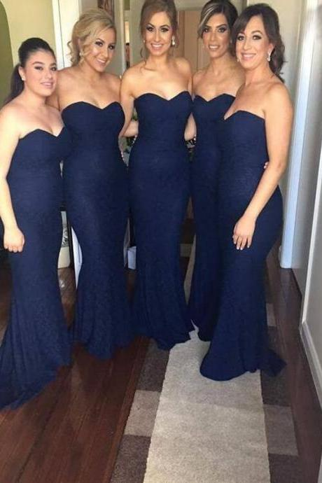 navy blue bridesmaid dresses bridesmaid dresses,bridesmaid dress,mermaid bridesmaid dress,sweetheart bridesmaid  dresses,long bridesmaid GNVSFFO