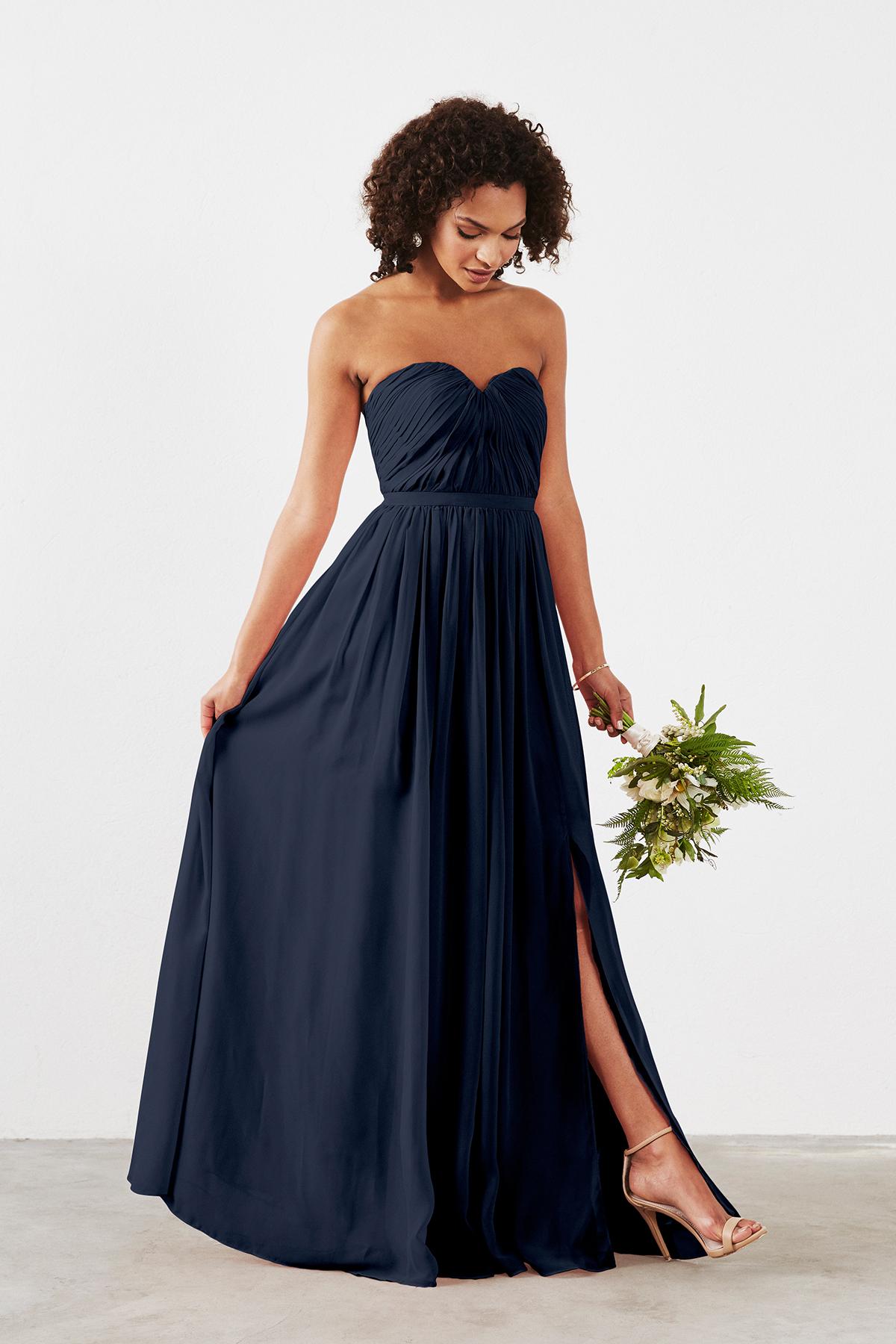 navy blue bridesmaid dresses dove u0026 dahlia hailey TBJNZUK
