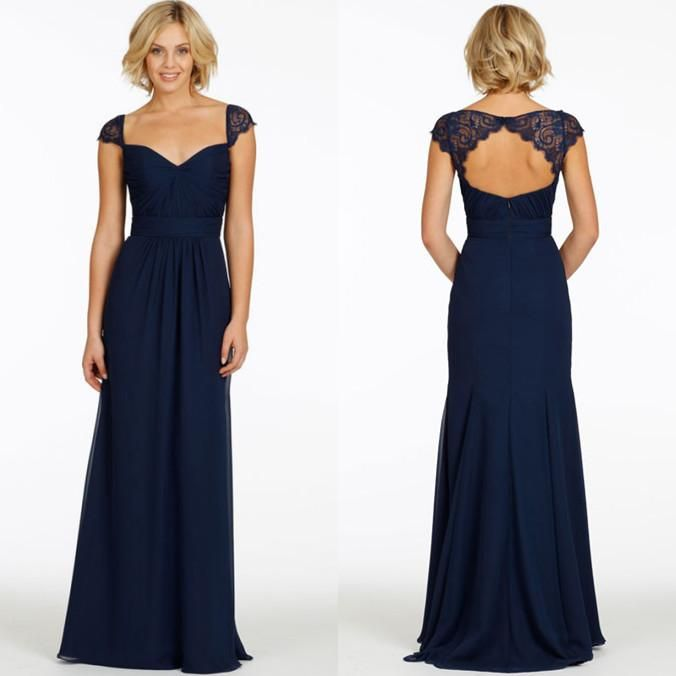 Types of navy blue bridesmaid dresses