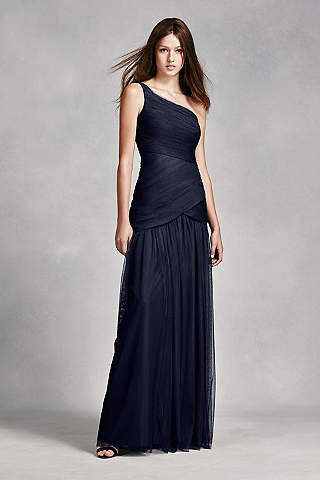 navy blue bridesmaid dresses navy blue u0026 royal blue bridesmaid dresses | davidu0027s bridal CYHNNMD