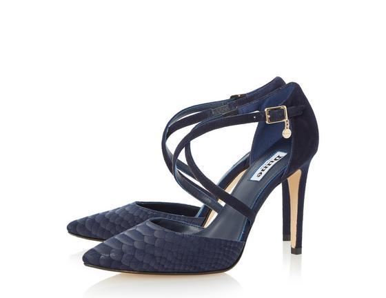 navy shoes dune ladies connie - cross strap two part pump - navy | dune shoes online KSPKHOD