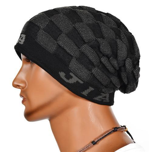 new design cool mens beanies fashionable grid pattern winter hats good  material sports crochet DTXEZTC