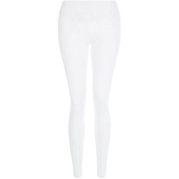 new look white leggings ($5.29) ❤ liked on polyvore featuring pants,  leggings, VJGQJIS