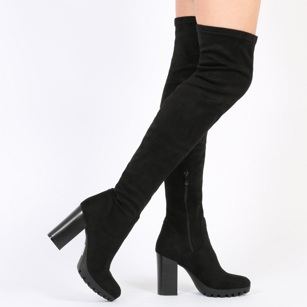 Look trendy with thigh high boots
