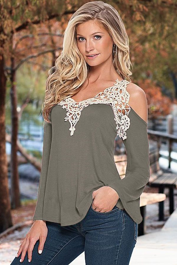 off the shoulder gray women going out tops QXZBBWW