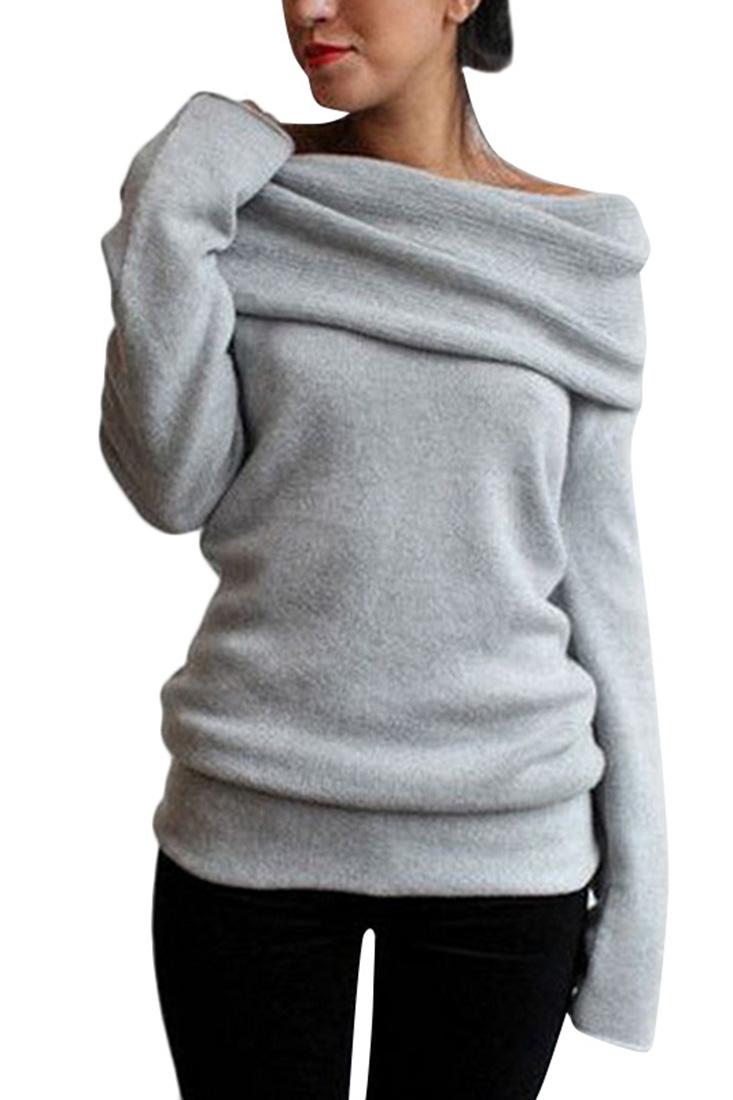 off the shoulder sweater loading zoom YDXSEJM