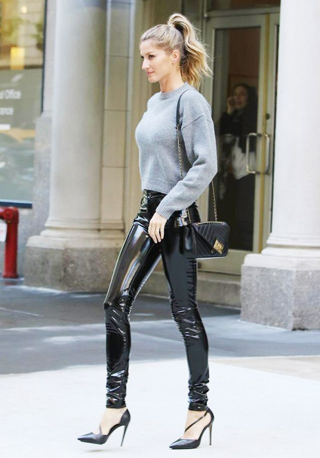 okay, gisele bündchen just made us want a pair of leather pants WFOOGCX