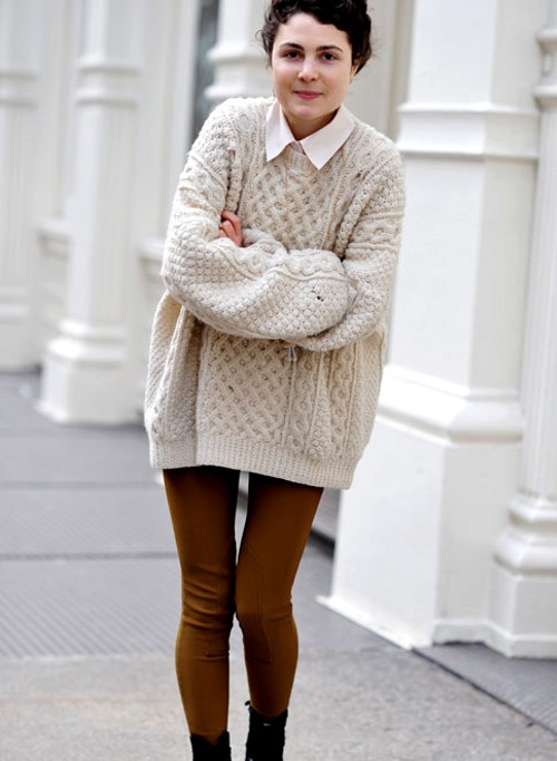 oversized sweaters oversized cable knitted sweaters youu0027d like to have: dress like your  grandma - SFGUNAA