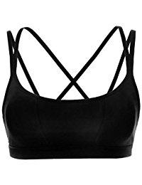 padded sports bra crz yoga womenu0027s padded wire-free cool-look criss cross back yoga sports bra AGPJWPW