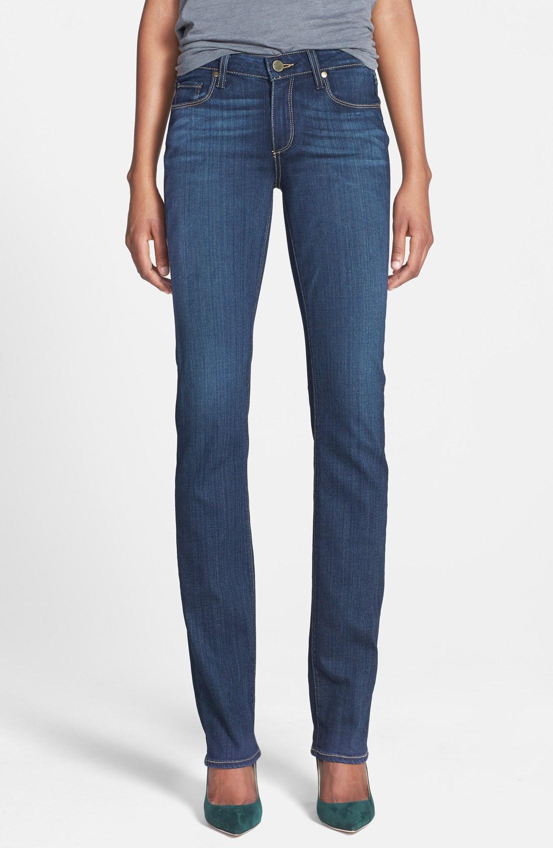 paige jeans paige transcend - skyline straight leg jeans (vista) | nordstrom YDXNAZF