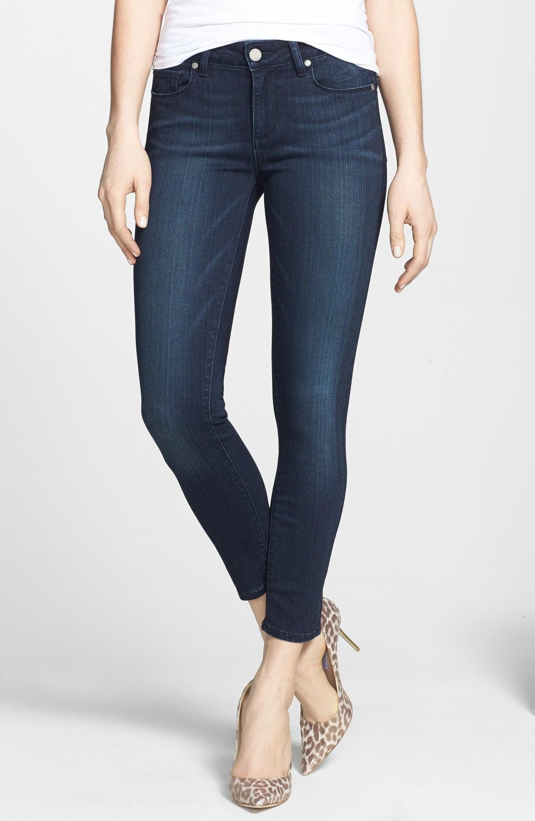 paige jeans paige transcend - verdugo crop skinny jeans (midlake) | nordstrom XUJGZJT