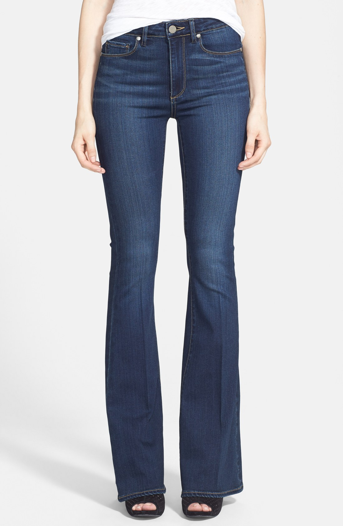 paige jeans paige u0027transcend - bell canyonu0027 high rise flare jeans (nottingham) |  nordstrom TGQVLCT