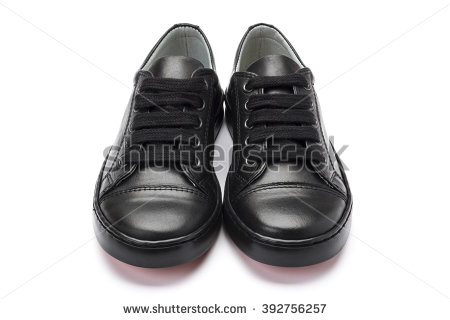 pair of school shoes for boys, shot at a 3/4 angle on a OCWHKPS
