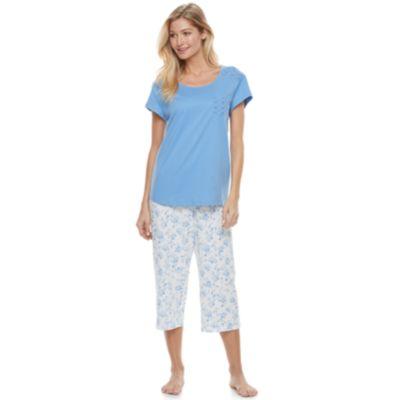 pajamas for women womenu0027s croft u0026 barrow® pajamas: momu0027s day short sleeve top ... VXTHZOG