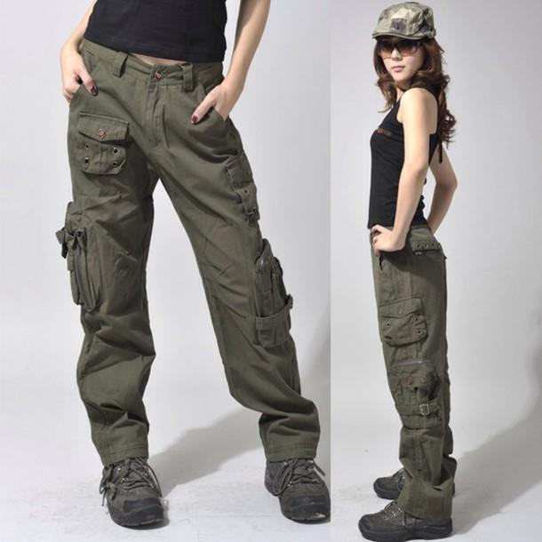 pants khaki pants cargo pants cargo khaki pants baggy pants bottoms pockets TDHXCYO