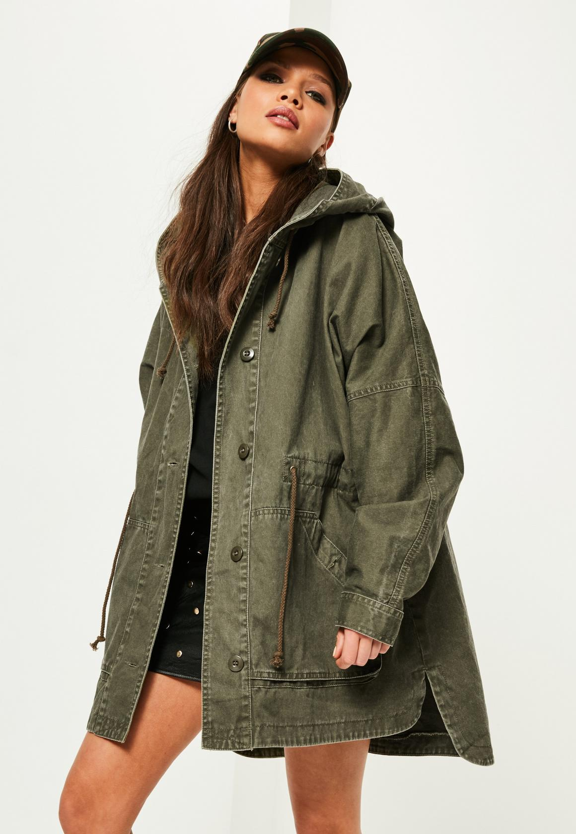 parka coats khaki washed effect utility parka coat khaki washed effect utility parka  coat IPRUHEK