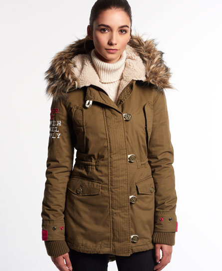 parka coats superdry badlands unity parka coat brown ZUQPMAF