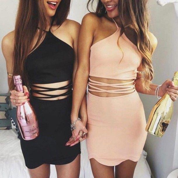 party outfits jess black dress izzy pink dress more MVCZMTF
