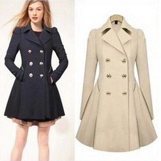 pea coats for women 2016 autumn winter warm peacoat women fashion ol trench faux long design coat  female QWFHNQI