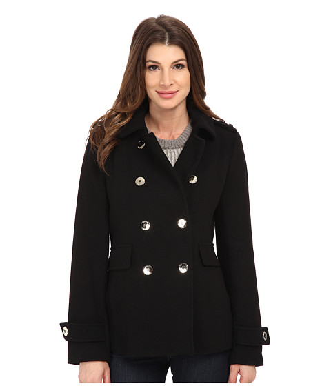 pea coats for women calvin klein - double breasted wool coat YVKCIOL