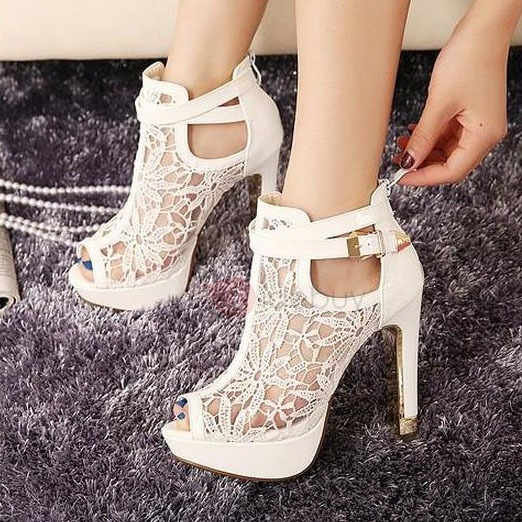 peep-toe lace hollow prom shoes : tidebuy.com JMDDZTP