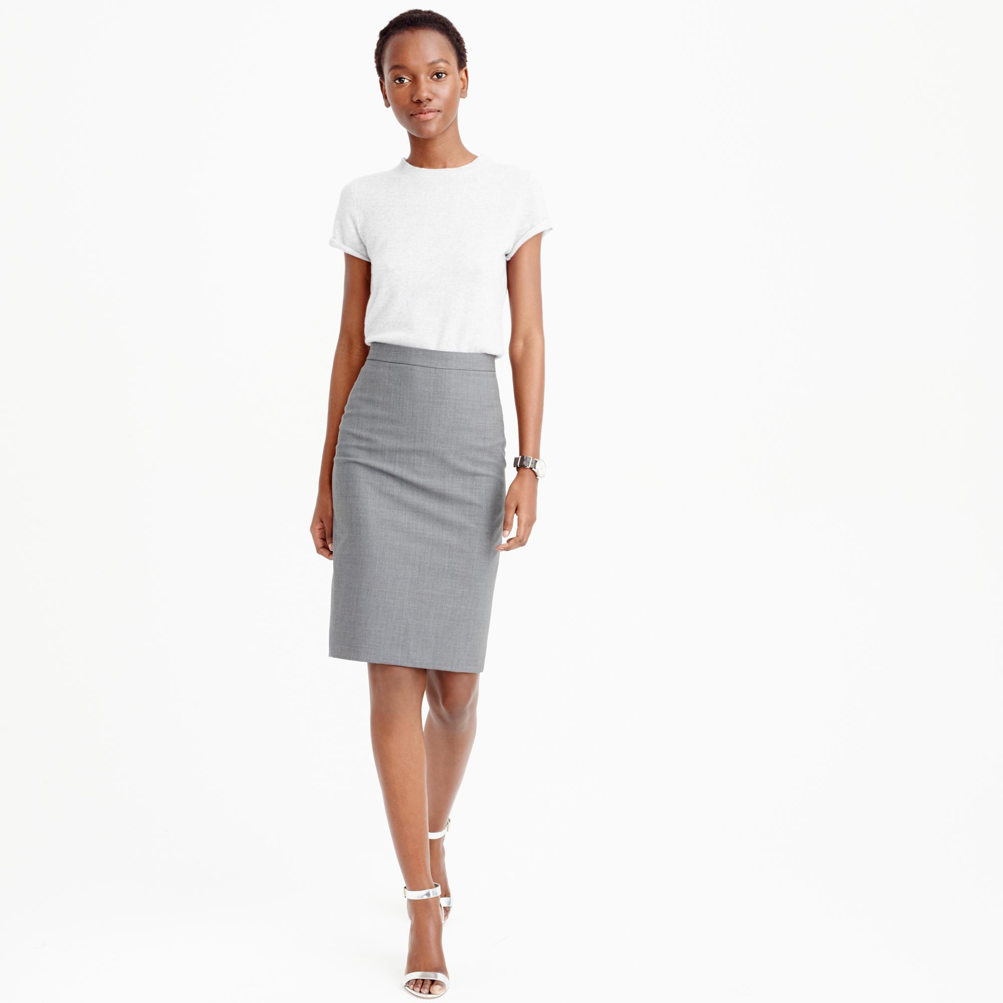 pencil skirt in italian stretch wool CFUHXWO