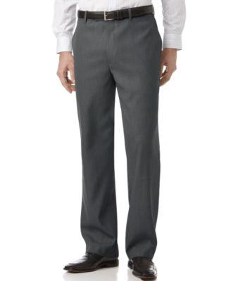 perry ellis portfolio classic fit sharkskin flat front dress pants FNTOHKO