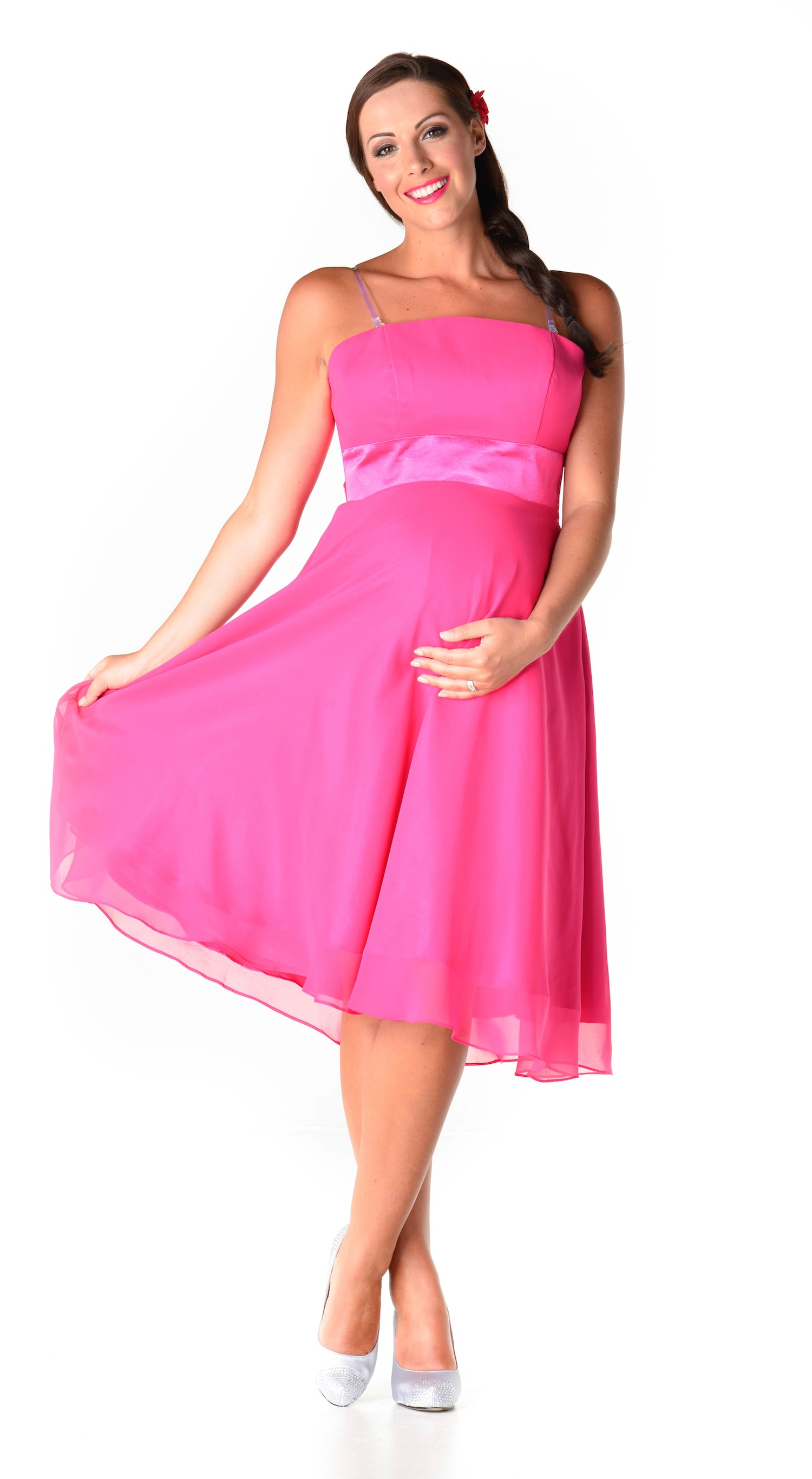pink dresses for women pink maternity maxi dress for pragnent women GHTLWIV