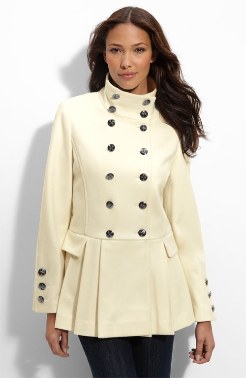 plus size coats compliment your curves in this plus size military wool coat UFMXMFB