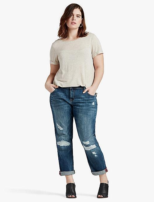 plus size jeans 410 lucky reese boyfriend AGYSYVQ