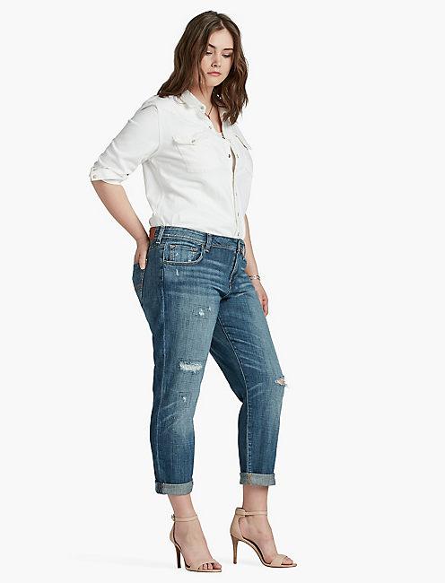 plus size jeans 410 lucky reese boyfriend KIQTHAK