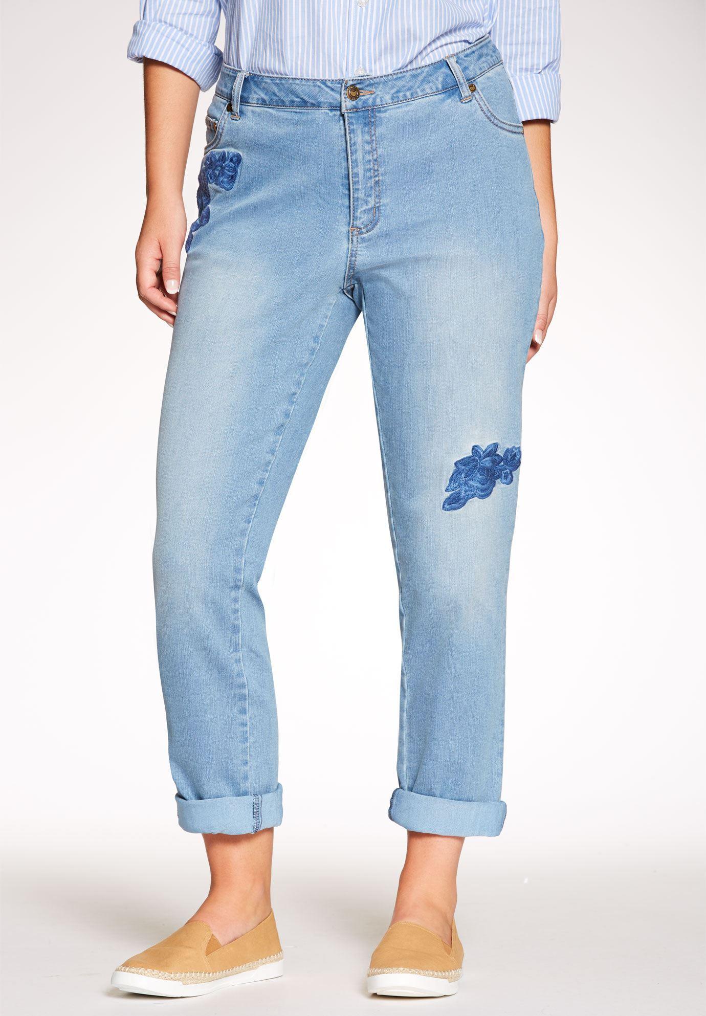 plus size jeans straight leg stretch jean KKRWLES