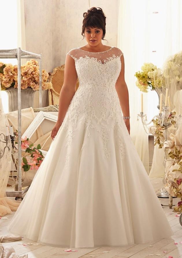 plus size wedding gowns mori lee - julietta collection JWVNBBM