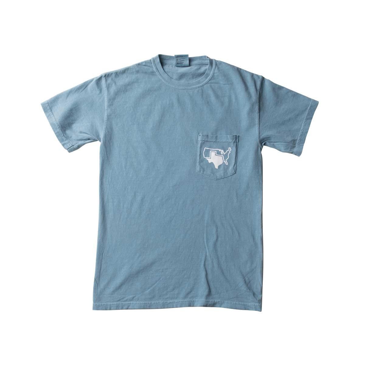 pocket tees ... ice blue ainu0027t texas pocket tee - texas humor store - 2 ... BJISCHE
