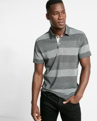 polo shirts for men ... jacquard stripe jersey polo RSVCYQO