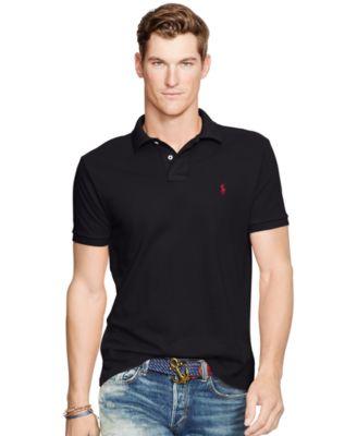 polo shirts for men polo ralph lauren menu0027s slim-fit cotton mesh polo shirt VSVWEFJ