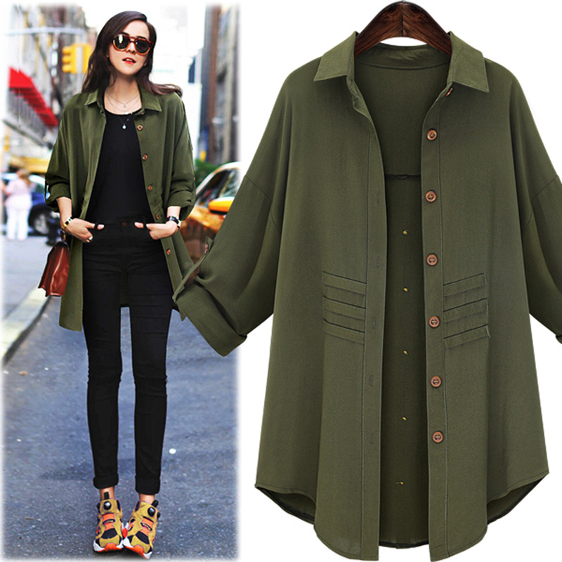 premier swiss clothing vogue green long shirts for women XKZGCSQ