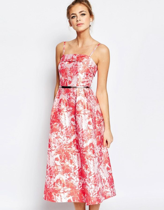 pretty pink floral dress for a wedding guest | spring dresses to wear to QDGOLZP