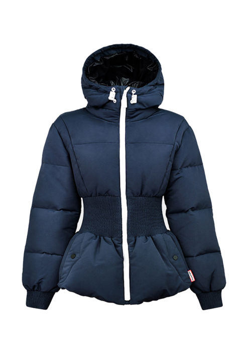 puffer jackets hunter original fitted down jacket, $385; huntereboots.com OHTLDRO
