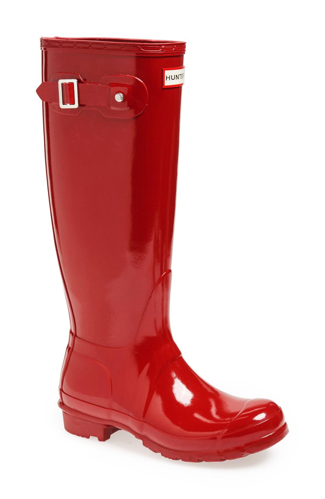 rain boot hunter original high gloss boot (women) | nordstrom YOETRVR