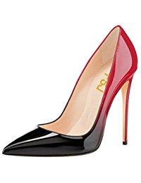 red pumps fsj women fashion pointed toe pumps high heel stilettos sexy slip on dress  shoes ALTYWSB
