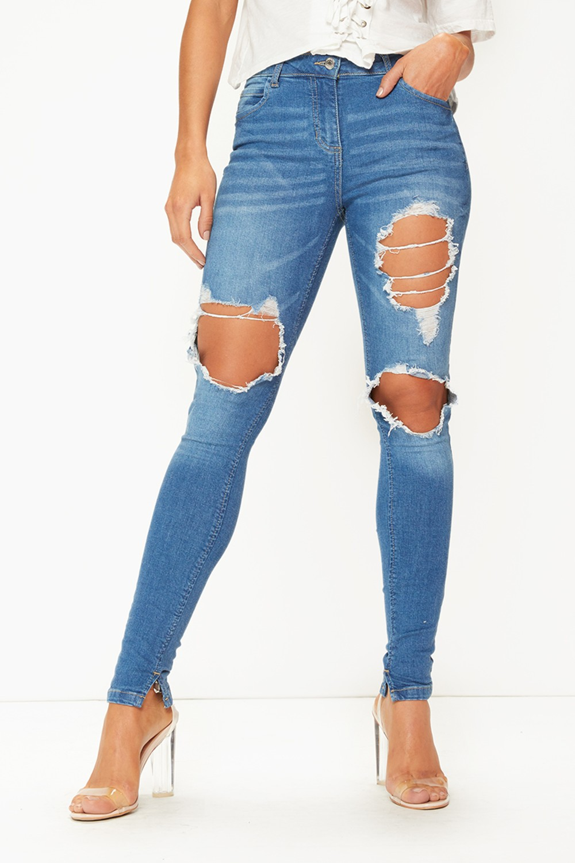ripped skinny jeans loading zoom QFGVHJO