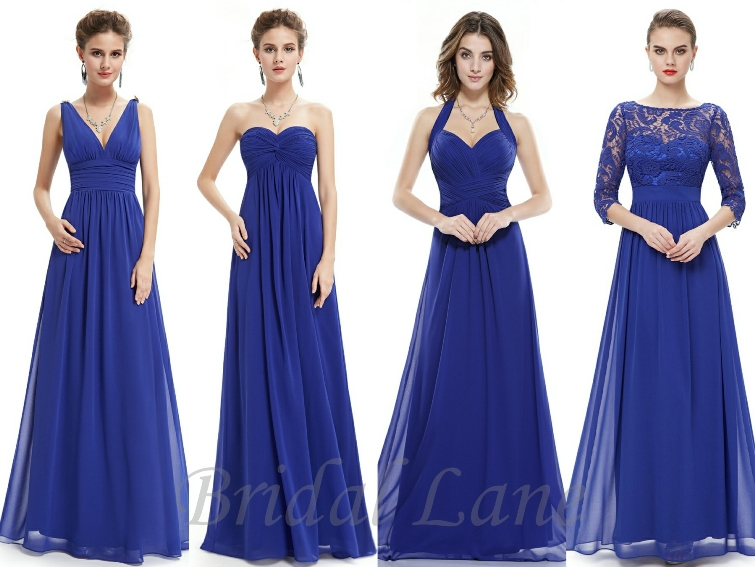 royal blue bridesmaid dresses - bridal lane, cape town EYPFRSP