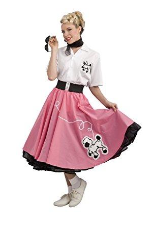 rubieu0027s costume grand heritage collection deluxe 1950u0027s poodle skirt, pink,  medium costume QPUZUJU